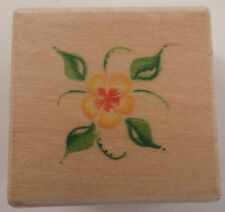 Ek Success Image Tree Flower Water Color Style Wooden Rubber Stamp