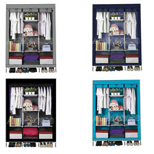Dust Proof DIY Fabric Canvas Clothes Storage Organiser Wardrobe Shelves Cabinet