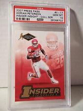 2007 Press Pass Adrian Peterson Rookie PSA Gem Mint 10 Football Card #II-17 NFL