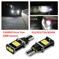 2X Error free W16W T15 Backup Reverse Light bulb White LED for Audi A4 A6 Q7 A5