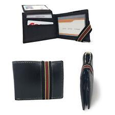 Нарезания подлинный кожаный двойной мужской, женский бумажник безопасности лента два наличных слоты