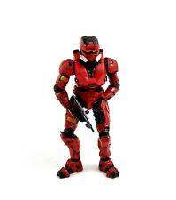 """Halo 3 McFarlane Red Spartan Soldier 5"""" Figure with Rifle - loose"""