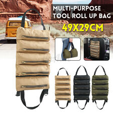 Tool Roll Up Organizer Tool Canvas Wrench Socket  Carrier Car Back Seat