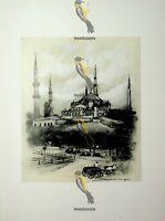 Mosque Of St Sophia, Istanbul, Turkey, Menpes, Book Illustration (Print), 1903