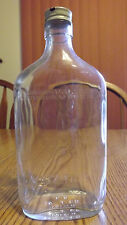 Vintage Schenley Glass Whiskey Bottle With Screw On Metal Lid Great Condition