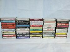 Vintage Cassettes Tape Lot Of 50 Pics Show Titles Great Titles 1960-1990's #4
