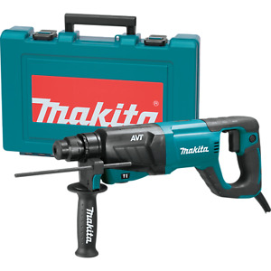 "Makita HR2641-R 1"" AVT Rotary Hammer, Accepts SDS‑PLUS Bits, D‑handle"