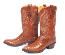 J.B. Hill Cognac Brown Crocodile Cowboy Boots - Wmn's Sz 8.5B Pee Wee Alligator