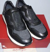 Salvatore Ferragamo Mens 'GHERARDO' Black White Outsole Sneakers 10.5 EE (43.5)