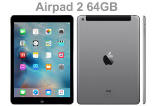 APPLE AIR PAD 2 64GB GREY, INCLUDES USB TO LIGHTNING CHARGER CABLE. GRADE A.