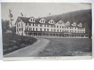 """1915 PHOTO POSTCARD  """" CAMPBELL INN - ROSCOE NY """" UNUSED"""