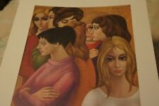 "Vintage.1962 Margaret Walter Keane Print Lithograph ""The Freshmen"" , Big Eyes"