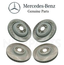 For Mercedes W164 ML63 AMG R63 Front & Rear Drilled Disc Brake Rotors Genuine