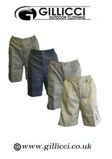 Mens Plain Summer Elasticated 7 Pockets Casual Shorts Lightweight Cargo Combat