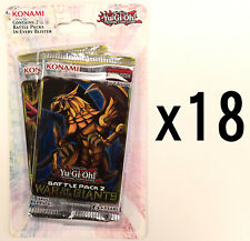 Yu-gi-oh! Yugioh Battle Pack 2 War of the Giants 1st Ed. LOT of 18 Blister Packs