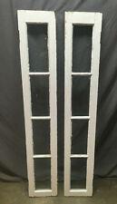Pair Antique 4 Lite Entrance Door Sidelights Window Sash 10X60 188-19L