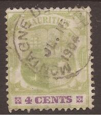 Used Single Edward VII (1902-1910) Mauritian Stamps