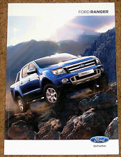 2012 FORD RANGER Sales Brochure - Wildtrak Limited XLT XL 2.2TD 3.2TD Colours