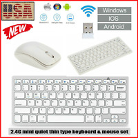 K03 2.4G Ultra-Thin Mini Wireless Keyboard and Mouse Combo Teclado Inalambrico