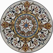 "60"" Handmade Decorative Medallion wall floor Marble Mosaic Art Stone Tile Decor."