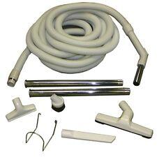 Beige Central Vacuum Garage Kit 30FT Hose Plus Attachments