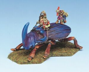 RAL PARTHA GIANT HORNED BEETLE (Goblins not included) Runequest 4719A UNPAINTED