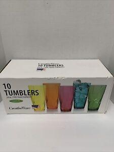 Creativeware Creative Bath Twist 24-Oz Assorted Plastic Tumblers, Set of 10 Cups