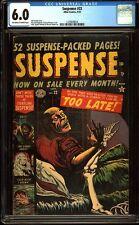 Suspense 22 CGC 6.0 Golden Age Pre-Code Horror PCH Atlas Comic L@@K IGKC