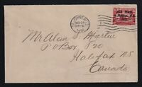 "Newfoundland 1921 AIR MAIL HALIFAX ""PERIO AFTER 1921"" Cover to Canada"