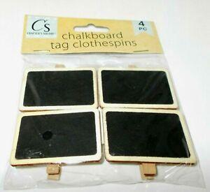 """Crafter's Square Tableau Noir Étiquette Pinces à Linge 4 PC New En Paquet 2 """" x"""