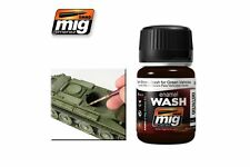 AMMO OF MIG A.MIG-1005 Dark Brown Wash for Green Vehicle 35ml