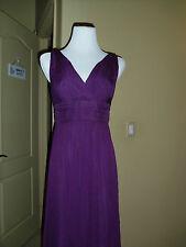 NWOT Amsale Sleeveless Silk Chiffon Gown SZ.8 Eggplant