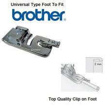 Rolled Hem Hemmer pied standard 2 mm pour Brother machines-Quick Clip on
