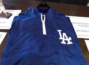MLB LOS ANGELES DODGERS SGA  LONG-SLEEVE PULLOVER ZIPPER SHIRT  SIZE X-LARGE