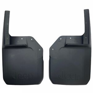 07-18 Jeep Wrangler JK Front Deluxe Molded Splash Guards Mud Flaps Mopar