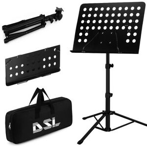 DSL Heavy Duty Orchestral Music Stand Folding Adjustable Sheet Stand Tripod Base