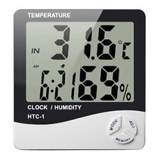 HTC-1 Digital LCD Thermometer Hygrometer Humidity Temperature Home Meter Clocks