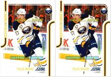2x SCORE 2011 TYLER MYERS NHL BUFFALO SABRES SUPERSTAR MINT CARD #78 LOT