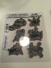Stampers Anonymous -Red Rubber Stamp Set - Tim Holtz - Crazy Thoughts
