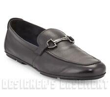 SALVATORE FERRAGAMO black 8EE GANCINI bit NOWELL driving Moccasin shoes NIB Auth