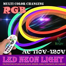 5M RGB Waterproof Flexible 5050 SMD LED Neon Light Strip + Remote Controller US