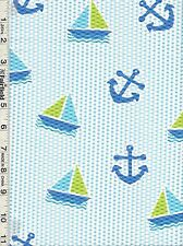 """Blue Oceans Away Anchors Toss Pucker by Springs Creative   27""""  REDUCED PRICE"""