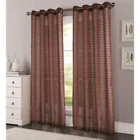 RT Designers Wanda Grommet Window Curtain Panel 54 x 90 Chocolate