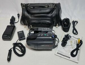 Panasonic Palmcorder PV-L501 D VHS-C Camcorder w/ Charger, Bag, & Battery Tested