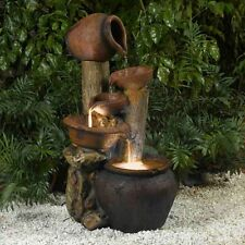 Superbe Jeco Pentole Pot Indoor/Outdoor Fountain With Illumination