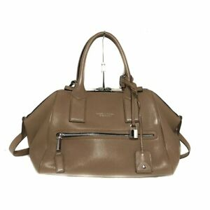 Auth MARC JACOBS Incognito Brown Leather Handbag
