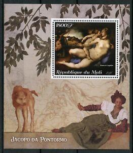 Mali 2018 MNH Jacopo da Pontormo Venus 1v M/S Art Nudes Nude Paintings Stamps