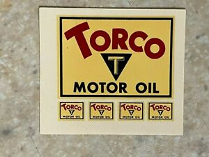 Torco Motor Oil Small Water Transfer Decal