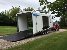 WOODFORD COVERED CAR TRAILER  RACE / EVENT / CLASSIC TRI AXLE 3500KG *NEW STOCK*