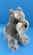 "Vintage America Wego Scottish Terrier Gray&White 11"" Plush Puppy Dog Korea"